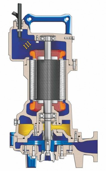 Abwassertauchpumpe mit Schneidwerk aus GG oder Edelstahl
